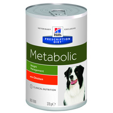 Hills Prescription Diet Metabolic Canine Chicken Wet Tins 12x370g