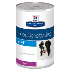 Hills Prescription Diet D/d Canine Food Sensitivities Duck Wet Tins 12x370g