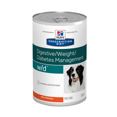 Hills Prescription Diet W/d Canine Digestive Weight Diabetes Management Chicken Wet Tins 12x370g