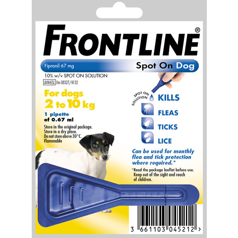 Frontline Spot On Flea Drops For Small Dogs And Puppies (2-10kg) 1 Pipette