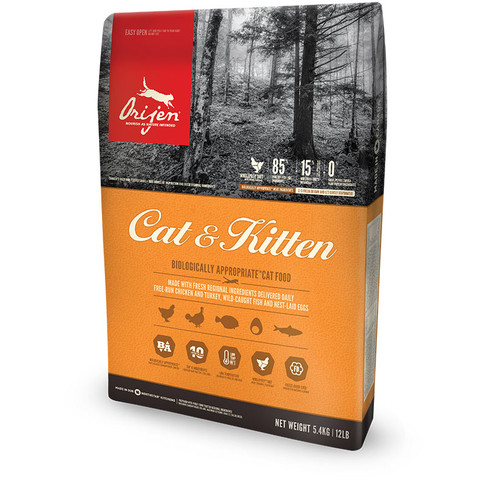 Orijen Cat And Kitten Grain Free All Life Stage Cat Food 5.4kg