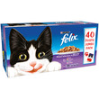 Felix Pouch Cat Food Mixed Variety Selection 40x100g
