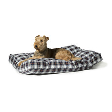 Danish Design Lumberjack White & Navy Luxury Box Duvet Dog Bed 88x67cm
