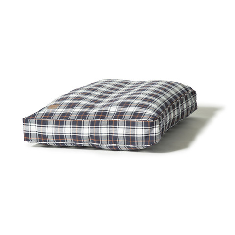Danish Design Lumberjack White & Navy Luxury Box Duvet Dog Bed 125x79cm