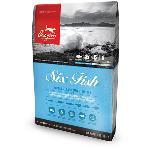 Orijen Six Fish Grain Free All Breeds & Life Stage Dog Food 11.4kg