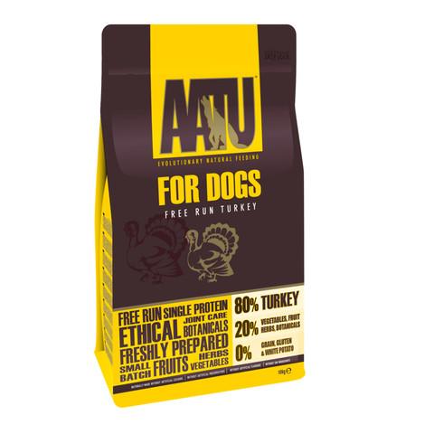 Aatu 80/20 Free Run Turkey Grain Free Adult Dog Food 10kg