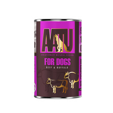 Aatu 90/10 Beef & Buffalo Grain Free Adult Wet Dog Food 6 X 400g
