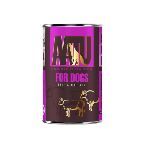 Aatu 90/10 Beef & Buffalo Grain Free Adult Wet Dog Food 6 X 400g