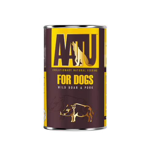 Aatu 90/10 Wild Boar & Pork Grain Free Adult Wet Dog Food 6 X 400g