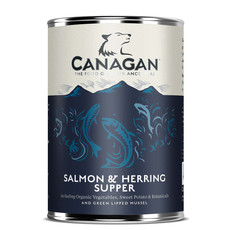 Canagan Salmon & Herring Supper Grain Free Adult Wet Dog Food 400g To 6 X 400g