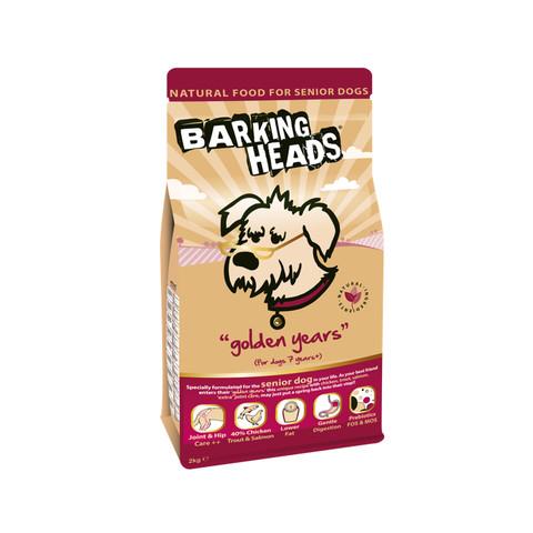 Barking Heads Golden Years Senior Dog Food 2kg