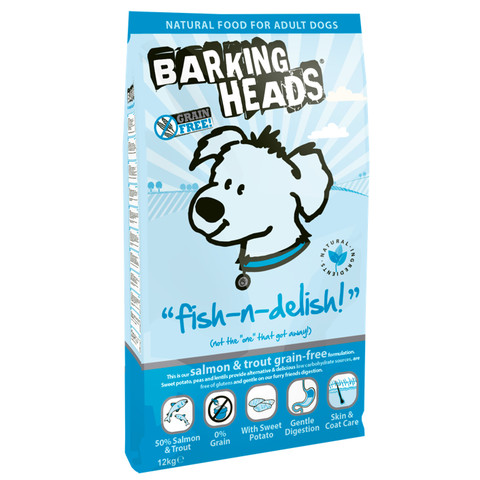 Barking Heads Fish-n-delish Grain Free Adult Dog Food 12kg