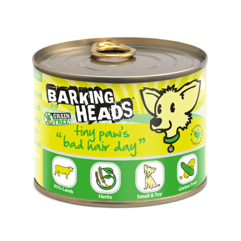 Barking Heads Tiny Paws Bad Hair Day Grain Free Wet Small Breed Adult Dog Food