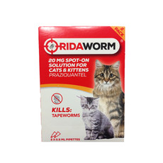 Ridaworm Spot On Worming Drops For Cats And Kittens 2 Pipette