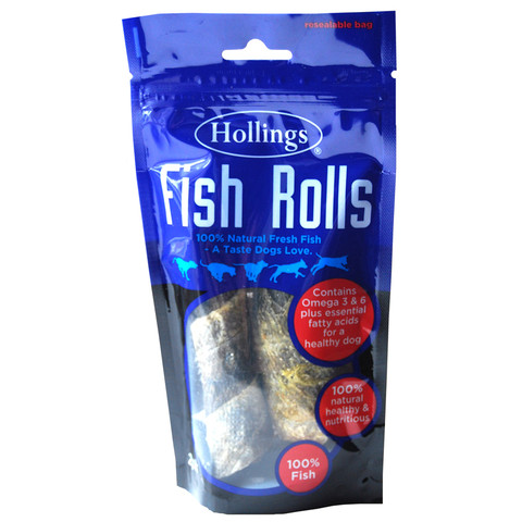 Hollings Fish Rolls Dog Treats 2 Pack To 8 X 2 Pack