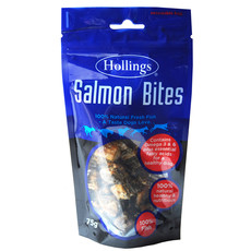 Hollings Salmon Bites Dog Treats 75g