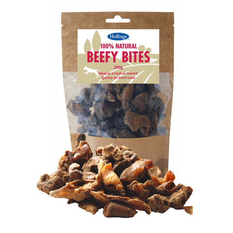 Hollings 100% Natural Beefy Bites Dog Treats 250g To 8 X 250g