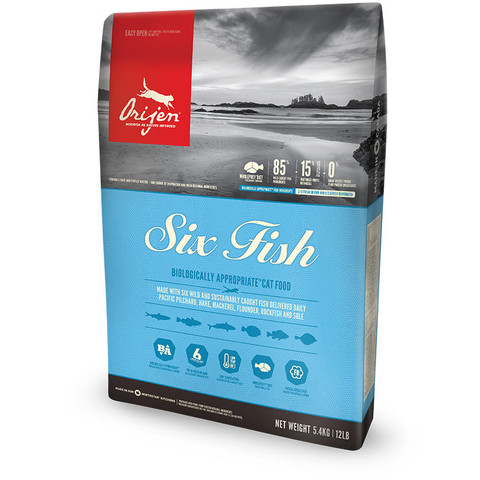 Orijen Six Fish Grain Free All Life Stage Cat Food 1.8kg