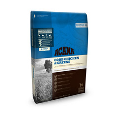 Acana Heritage Grain Free Cobb Chicken And Greens All Breeds & Life Stage Dog Food 11.4kg To 2 X 11.4kg