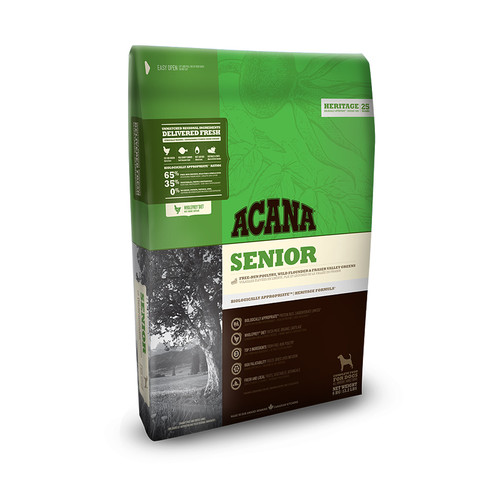 Acana Heritage Grain Free Senior All Breeds Dog Food 11.4kg To 2 X 11.4kg