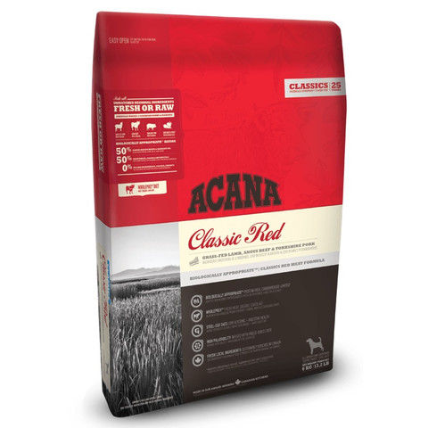Acana Classics Classic Red All Breeds & Life Stage Dog Food 11.4kg To 2 X 11.4kg