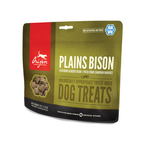 Orijen Grain Free 100% Meat Plains Bison Freeze Dried Natural Dog Treats 42.5g