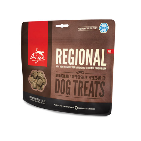 Orijen Grain Free 100% Meat Regional Red Freeze Dried Natural Dog Treats 42.5g