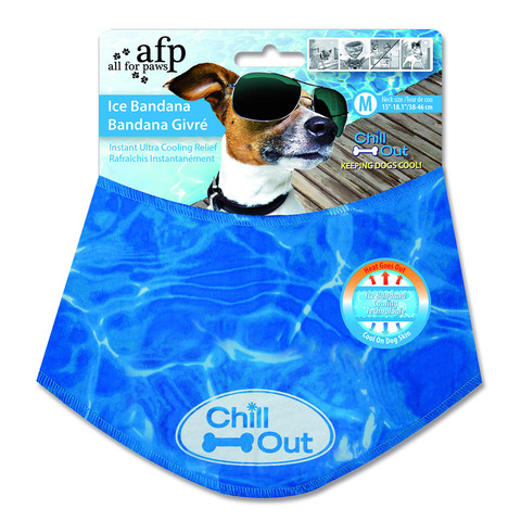 All For Paws Cooling Relief Ice Bandana For Dogs Medium
