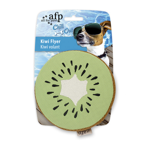 All For Paws Chill Out Kiwi Flyer Soaker Dog Toy