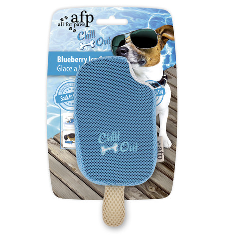 All For Paws Chill Out Blueberry Ice Cream Soaker Dog Toy