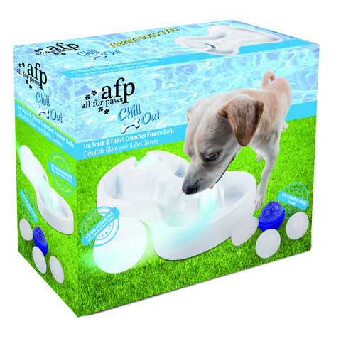 All For Paws Chill Out Ice Track & Thirst Cruncher Ice Balls Interactive Dog Toy