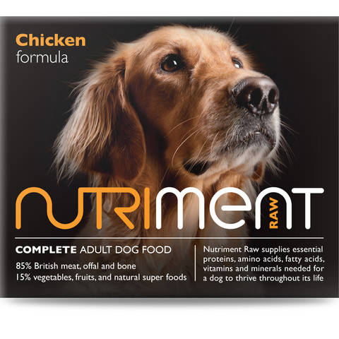 Nutriment Chicken Formula Raw Frozen Adult Dog Food Chubb 1.4kg