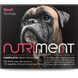 Nutriment Boneless Beef Formula Raw Frozen Adult Dog Food Tub 500g