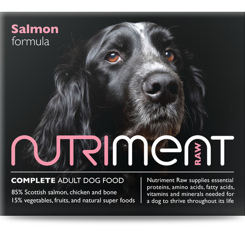 Nutriment Salmon Formula Raw Frozen Adult Dog Food Tub 500g