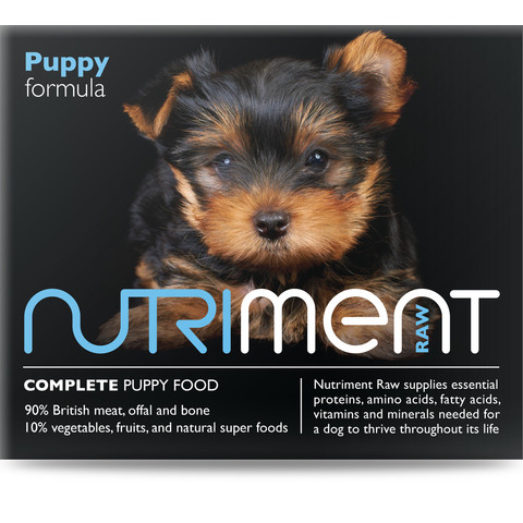 Nutriment Puppy Formula Raw Frozen Puppy Food Tub 500g