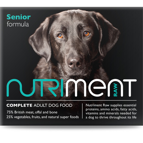 Nutriment Senior Formula Raw Frozen Senior Dog Food Tub 500g