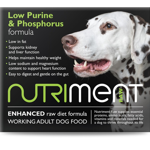 Nutriment Low Purine & Phosphorus Formula Raw Frozen Adult Dog Food Chubb 1.4kg