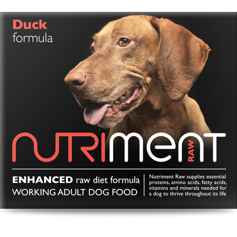 Nutriment Duck Formula Raw Frozen Adult Dog Food Tub 500g