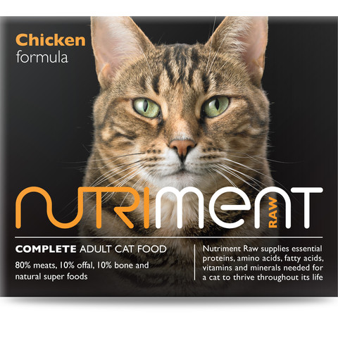 Nutriment Chicken Formula Raw Frozen Adult Cat Food Tub 500g