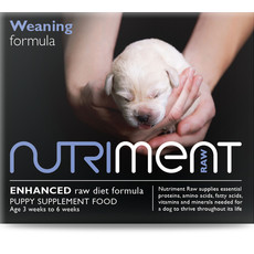 Nutriment Weaning Formula Raw Frozen Puppy Food Tub (aged 3 - 6 Weeks) 500g