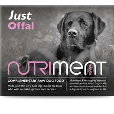 Nutriment Just Offal Formula Complementary Raw Frozen Adult Dog Food Tub 500g