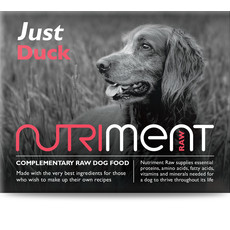 Nutriment Just Duck Formula Complementary Raw Frozen Adult Dog Food Tub 500g
