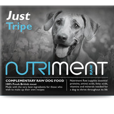Nutriment Just Tripe Formula Complementary Raw Frozen Adult Dog Food Tub 500g