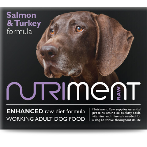 Nutriment Salmon & Turkey Formula Raw Frozen Adult Dog Food Tub 500g
