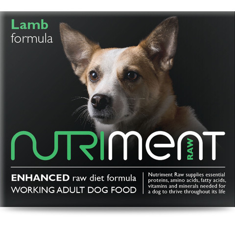 Nutriment Lamb Formula Raw Frozen Adult Dog Food Tub 500g
