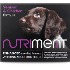 Nutriment Venison & Chicken Formula Raw Frozen Adult Dog Food Tub 500g