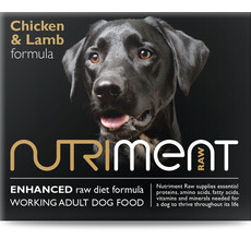 Nutriment Chicken & Lamb Formula Raw Frozen Adult Dog Food Chubb 1.4kg