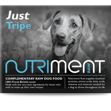 Nutriment Just Tripe Formula Complementary Raw Frozen Adult Dog Food Chubb 1.4kg