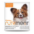 Nutriment Dinner For Dogs Chicken Formula Raw Frozen Adult Dog Food Tray 200g
