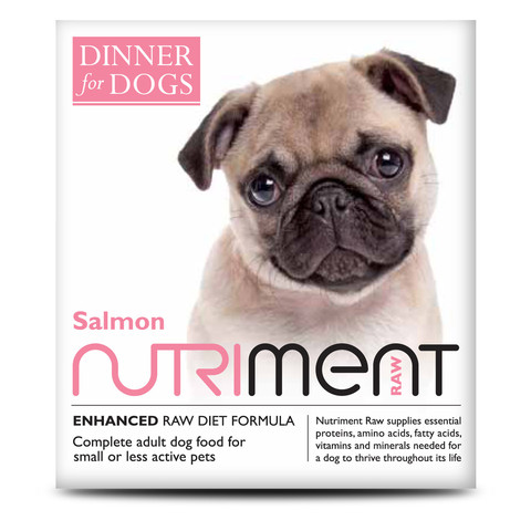 Nutriment Dinner For Dogs Salmon Formula Raw Frozen Adult Dog Food Tray 200g